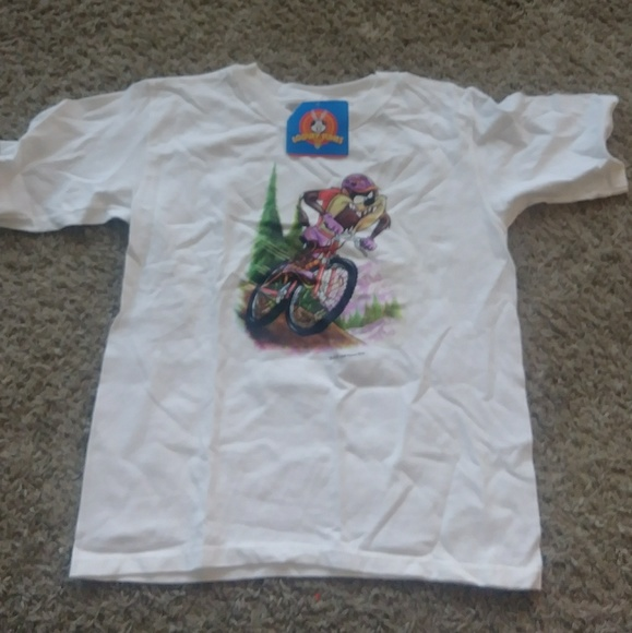 Anvil Other - NY 1990s Looney Tunes Taz Mountain Biking T-shirt